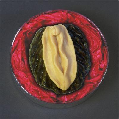 135gr Muschi aus Marzipan in Hellen Variante